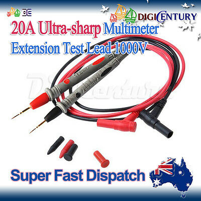 New Digital Multimeter Meter Testing 1000V 20A Test Lead Probe Cable Needle Tip