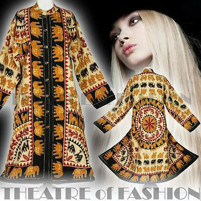 VINTAGE  70s COAT 30s INDIAN JACKET 60s KIMONO DRESS M L XL XXL XXXL BOHO HIPPY