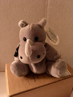 Coca Cola Plush International beanie 1999 MWMT Rhiny Rhinoceros from Tanzania
