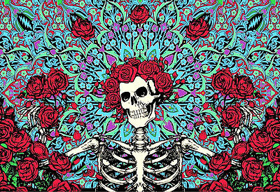 "3.25"" Grateful Dead LSD Smiling Skull Vintage style STICKER. For your bong, pipe"