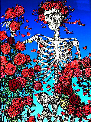 "3.25"" Grateful Dead LSD SCARLET BEGONIAS Vintage style STICKER. For bong, pipe"