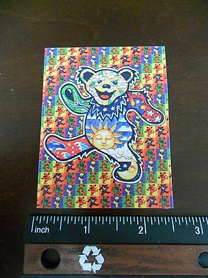 "3.25"" Grateful Dead LSD DANCING BEAR Vintage style STICKER. For your bong, pipe."