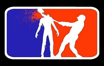 "3.25"" MAJOR LEAGUE ZOMBIE HUNTER Funny Sticker / decal. Horror Blood Laptop"