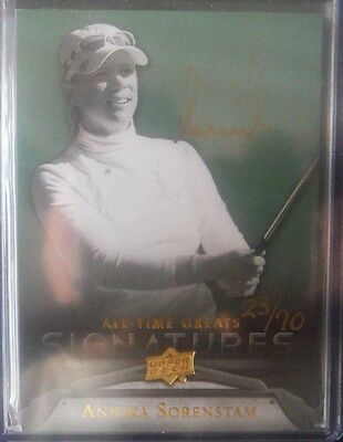 2012 UD All-Time Greatest GOLD AUTOgraph *ANNIKA SORENSTAM* #ed/70 12 Upper Deck