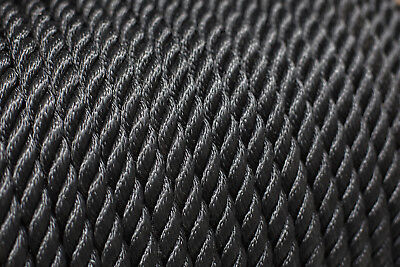 Nylon 3 Strand Twisted Rope 14mm x 20 metres, Black