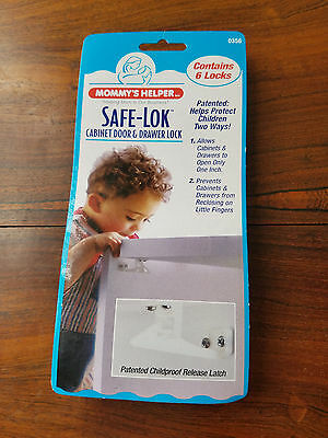 Mommy's Helper Safe-Lok Cabinet Door & Drawer Lock No. 0356 (NEW)
