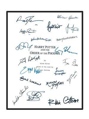 Harry Potter And The Order Of Phoenix Signed Script Daniel Radcliffe  Jk Rowling