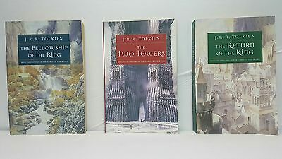 Lord of the Rings Triology paperback books JRR TOLKEIN. Houghton Mifflin