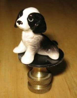 Springer Spaniel Puppy Lamp Finial, lamp topper, new, porcelain