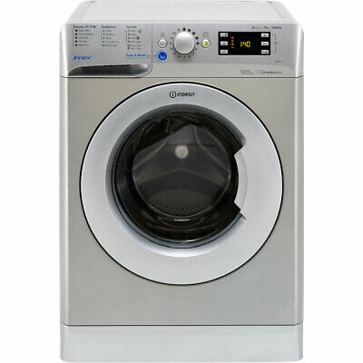Indesit BWE91484XSUK A+++ 9Kg 1400 Spin Washing Machine Silver New from AO