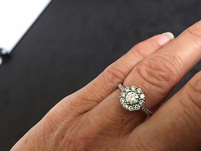 18ct White Gold Diamond Cluster Engagement Ring