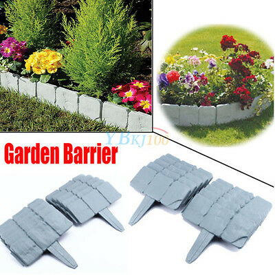 DIY Cobbled Stone Effect Garden Fence Edging Border Hammer-In 10/50/100 Packc UK