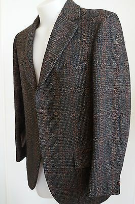 harris tweed brown plaid patterned wool jacket…to fit a 38/small…vgc...