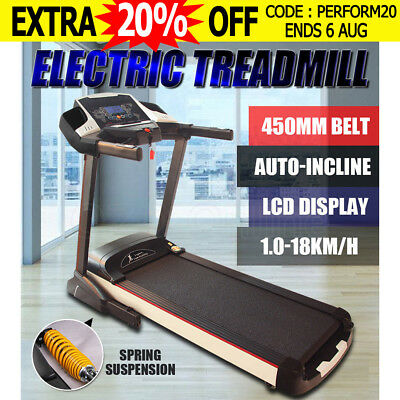 Electric Treadmill Exercise Equipment Machine Fitness Home Gym Wide 450mm Belt
