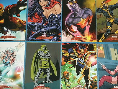 Marvel Masterpieces (Set 2 2008) Complete 90 Card Base Set Trading Cards X-Men