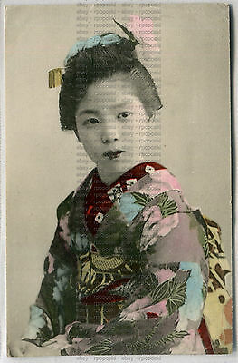 Early Chinese Postcard Of A Girl In Traditional Costume
