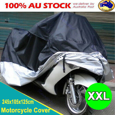 XXL Waterproof Outdoor Motorcycle Motor Bike Scooter Protector Dust Rain Cover