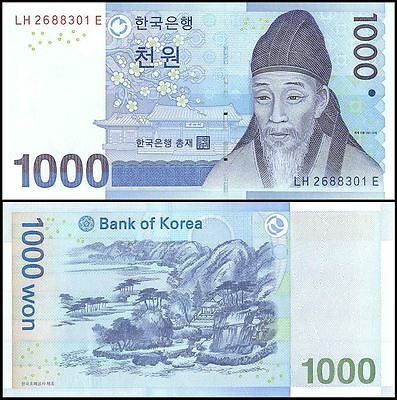 South Korea 1,000 (1000) Won, 2007, P-54, UNC