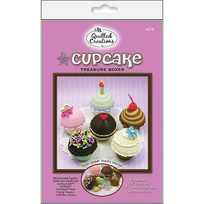 CUPCAKE TREASURE BOXES QUILLING KIT-Quilled Paper Craft-3D Cupcakes-Crafting