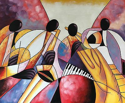 Canvas Wall Art Modern Decor Oil Painting Hand Painted,Music, 61 X 51 cm