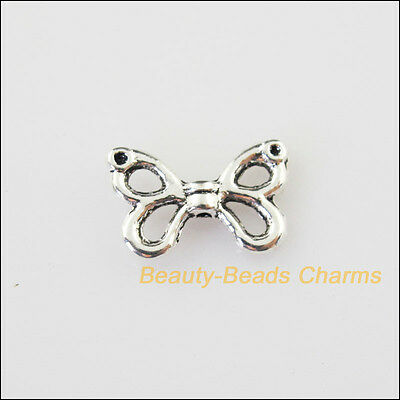 30Pcs Antiqued Silver Tone Animal Butterfly Charms Pendants Connectors 9.5x15mm