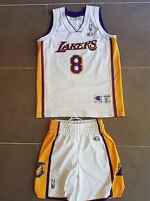 Maillot + Short  Nba Basket Basketball Los Angeles Lakers Kobe Bryant 12 ans