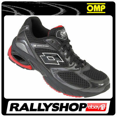 OMP LOTTO WORKSHOP Race shoes Black Red rally mechanics boots Sport work