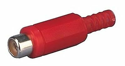 Jack RCA cable mount, plastic body, red