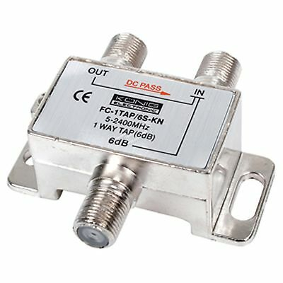2 WAY F-SPLITER 1W TAP 6dB 5-2400MHZ KONIG