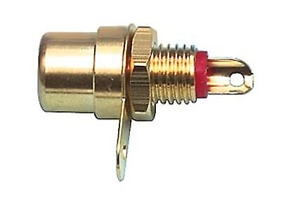 Jack RCA gold plated, unshielded, panel mount, red