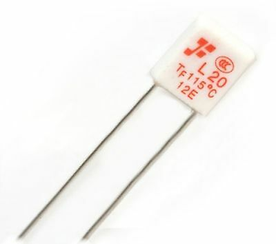Fuse:thermal 2A 6x6.5x2.8mm 130CC Leads dim:len.55mm