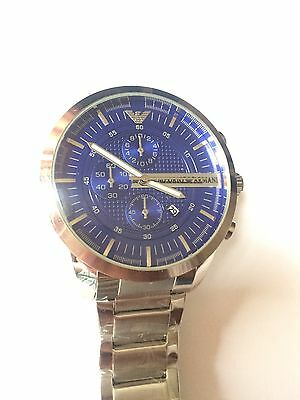 Emporio Armani AR2448 Stainless Steel Chronograph Quartz Men's Gents Watch