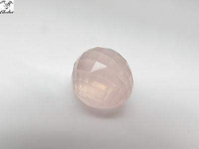 1x Rosenquarz - Oval Schachbrett/checkerboard  13,22ct. 14,5x12,8x10,4mm (1178A)