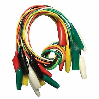 Cable with the crocodile type clamps 10pcs