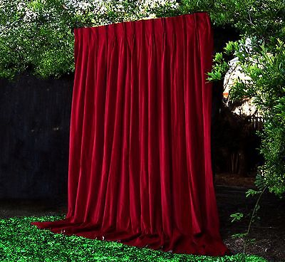 HUGE EXQUISITE PARIS Apt 100% BLOCK VINTAGE VELVET CURTAINS THEATRE PORTIERRE #2