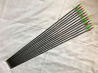 "12 x Beman ICS Energy Arrows - 29.5"" - 600 Spine - Easton Points and Nocks"
