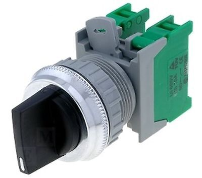 Selector switch 3-position NC + NO ON-OFF-ON 22mm black AUSPICIOUS