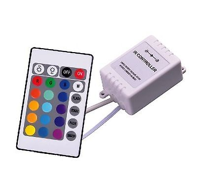 RGB LED controller with and remote control 12Vdc 3x2A 72W