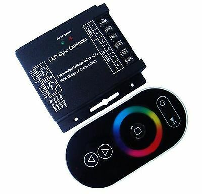 RGB LED controller with RF remote control 12Vdc 3x8A 288W