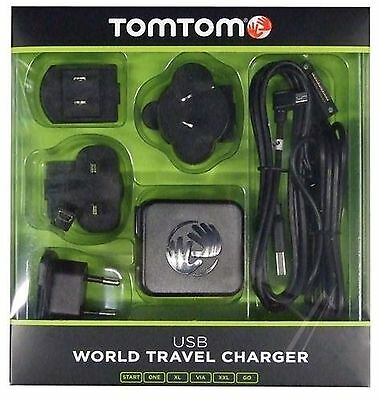USB world travel charger for TomTom (START, ONE, XL, VIA, XXL, GO)
