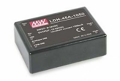 DC/DC constant current LED driver 9-18V:12-86V 350mA pin style