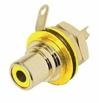Jack RCA yellow, schielded, panel mount NEUTRIK-REAN