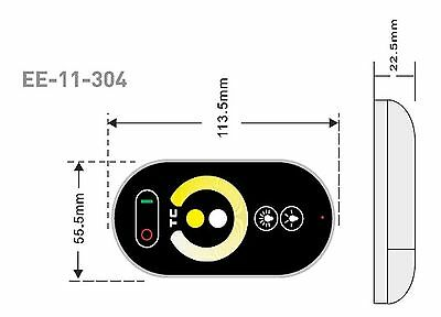 LED controller with RF remote control 12-24Vdc 2x6A 12V/144W 24V/288W