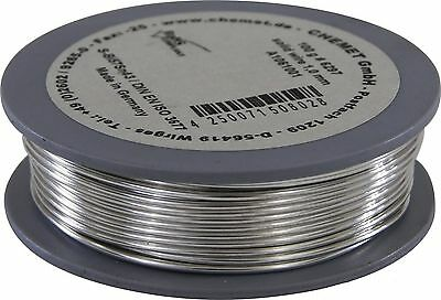 Soldering wire, low melting temperature Bi57Sn43 1mm 100g without flux Chemet