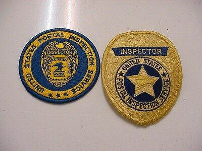 set 2 vintage united states postal inspection service patch and inspector patch
