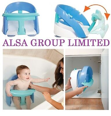 Dreambaby Deluxe Easy Open And Foldable Baby Bath Seat Blue