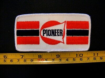 Embroidered patch PIONEER gas station original NOS vintage CANADA oil service