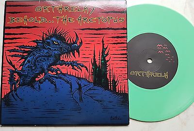 "Orthrelm / Behold... The Arctopus 7"" vinyl split - Rare Math Rock Death Metal"