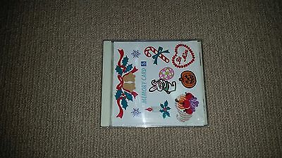 Janome Sewing Machine Embroidery Memory Card 5 Holiday Series 1997 Japan