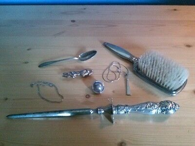 Scrap sterling silver junk drawer lot